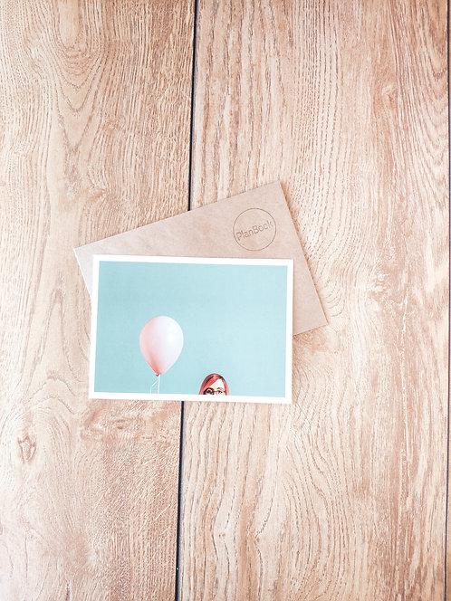 """Открытка """"Розовый шарик"""""""
