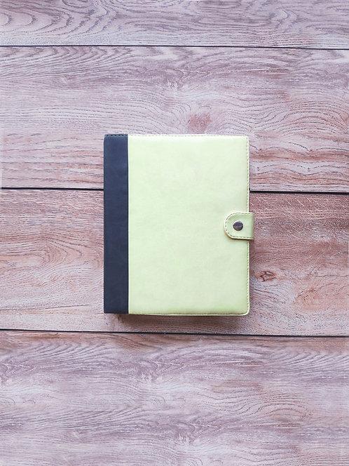 Ежедневник EcoPlan MEDIUM серый + желтый