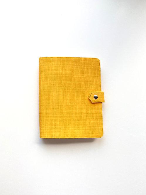 """Обложка из экокожи """"Желтая рогожка"""""""