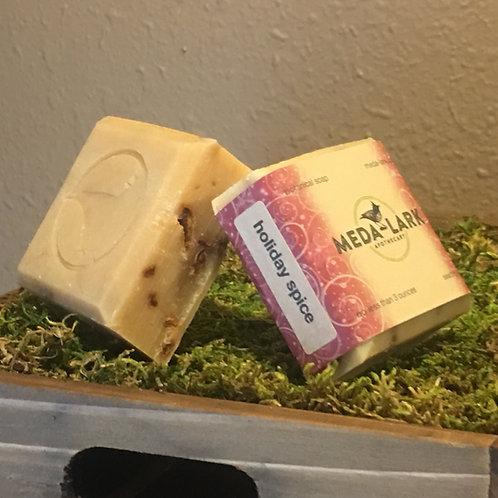 """""""holiday spice"""" botanical soap"""