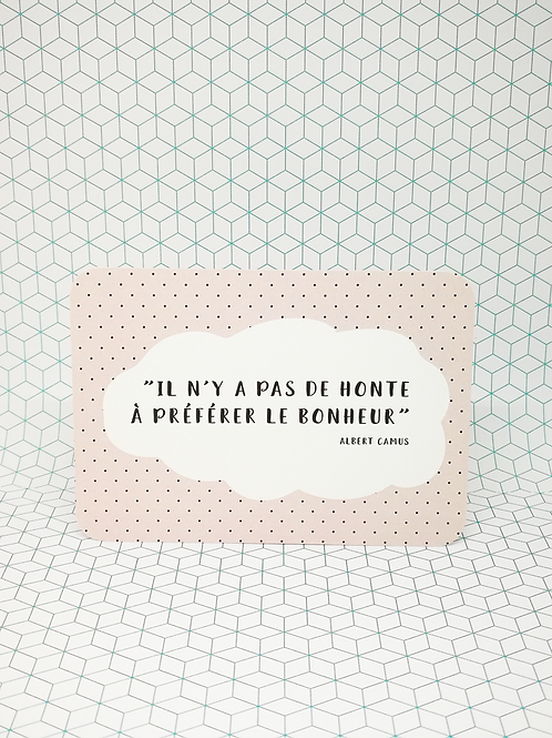 Mini-carte Bonheur