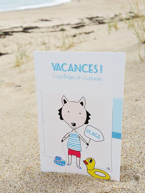 Carte postale Vacances coquillages et crustacés