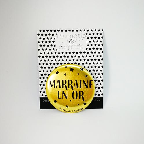 Badge Marraine en or