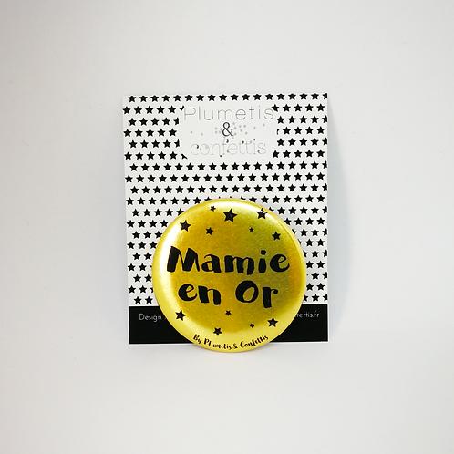 Badge Mamie en or