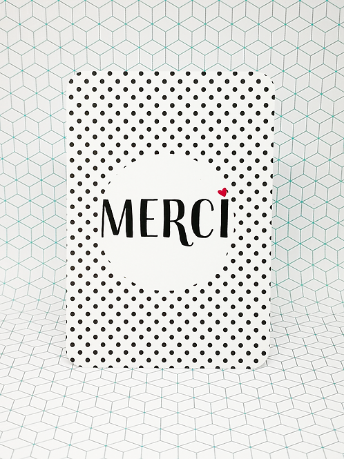 Mini-carte Merci coeur