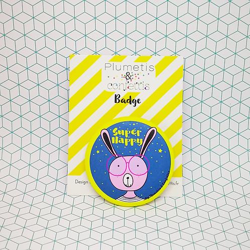 Badge Super happy