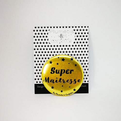 Badge Super maîtresse doré