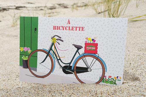 Carte postale À bicyclette !