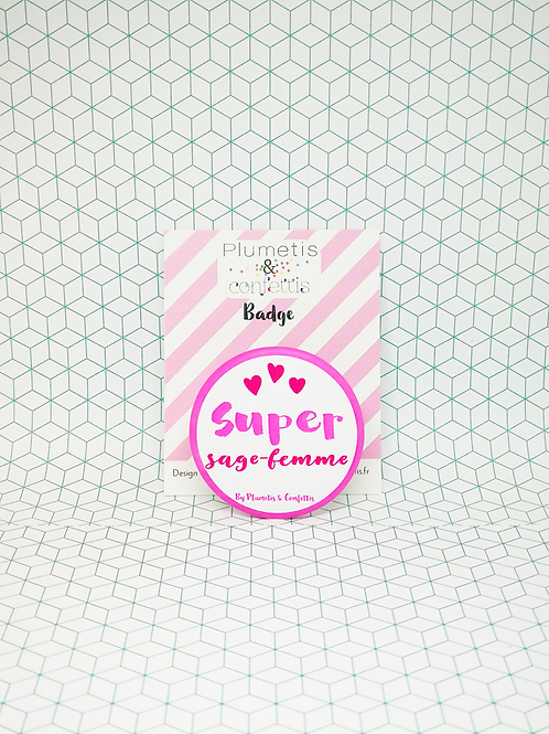 Badge Super Sage-femme