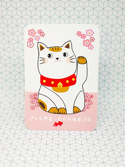 Mini-carte Porte bonheur