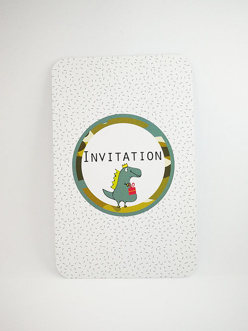 Lot de 6 invitations anniversaire Dinosaure