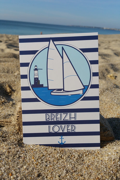 Carte postale Breizh lover