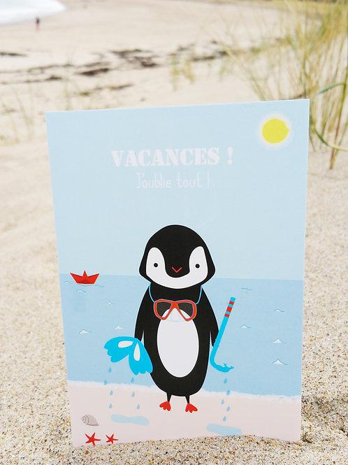 Carte postale Vacances J'oublie tout !