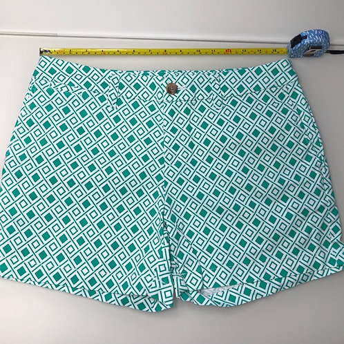 Green and white shorts by Faded glory