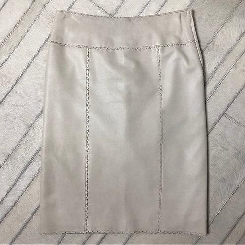Danier leather white skirt