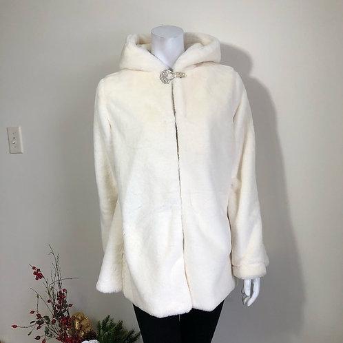 Faux fur jacket - white