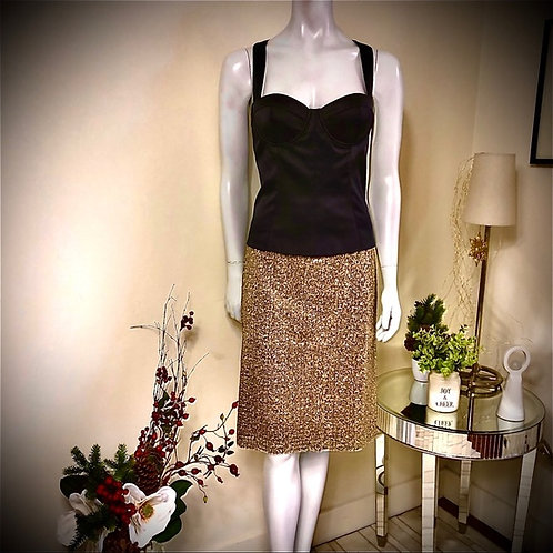 CHICO'S - gold skirt