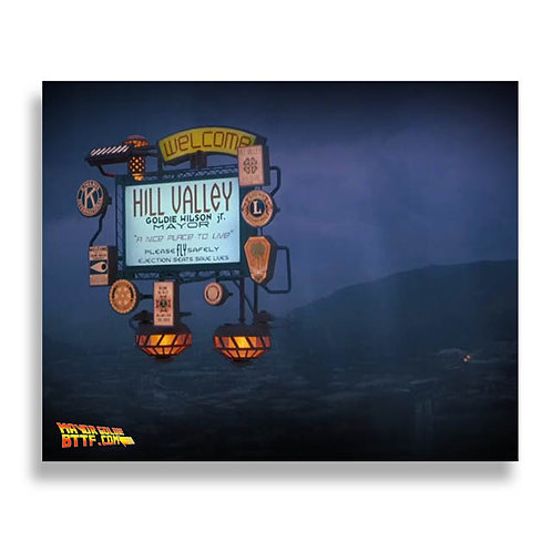 Autographed Future Hill Valley 8x10