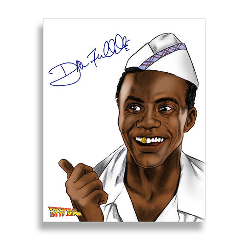 Autographed Goldie Wilson [Drawing in color] 8x10