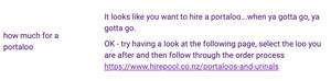 Portaloo FAQ example