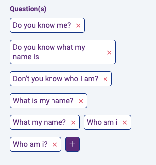 New feature: display question