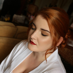 Wedding makeup on Laura