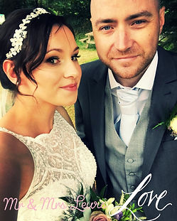 Lovely Lucy on her wedding day in South Wales. Natural looking makeup with glowing fresh skin.