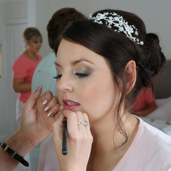 Wedding makeup on claire