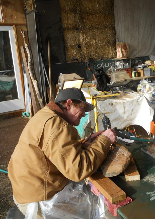 Bob marker stone carving