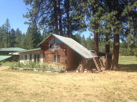 The White Eagle cabin in the Ekone Ranch valley.