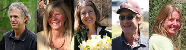 Photo montage with close up face photos of White Eagle founding stewards.
