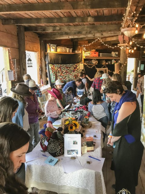 Silent Auction at Ekone Ranch