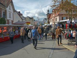 Herbstmarkt am 11. Oktober in Donauwörth, geöffnet von 13.00 bis 18.00