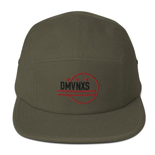 Black/Red DMVNXS Logo Five Panel Cap