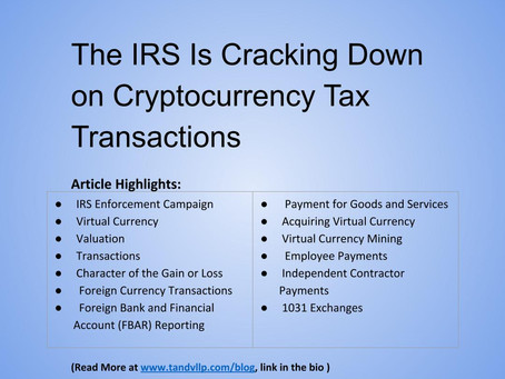 The IRS Is Cracking Down on Cryptocurrency Tax Transactions