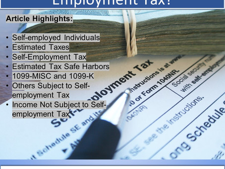 Are You Subject to Self-Employment Tax?