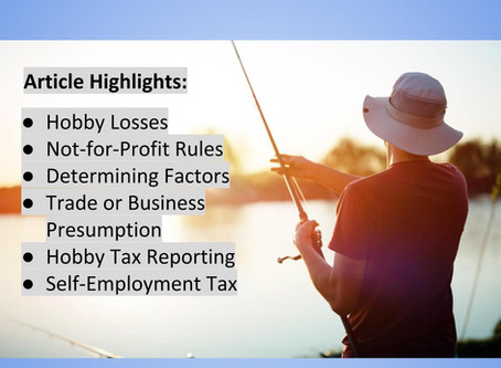Tax Issues Related to Hobbies