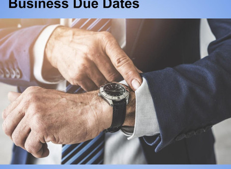 September 2019 Business Due Dates