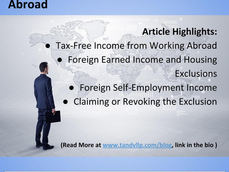 Earn Tax-Free Income from Working Abroad