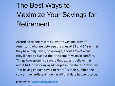 The Best Ways to Maximize Your Savings for Retirement