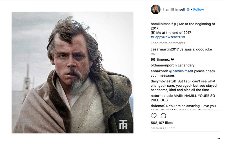 Mark Hamill's Post