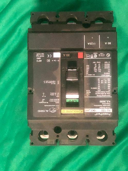 HJL36080 80 AMP 600 VOLT Circuit Breaker