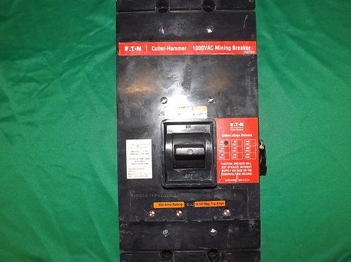HMAM3800M 800 AMP 1000 VOLT 3-Pole Cutler-Hammer