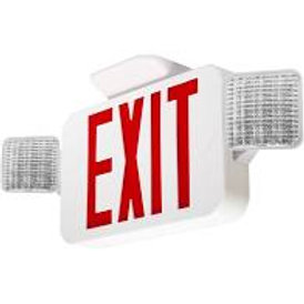 ML-EC-2W-RED Emergency and Exit Sign Combo
