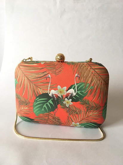 CLUTCH ESTAMPA FLAMINGO
