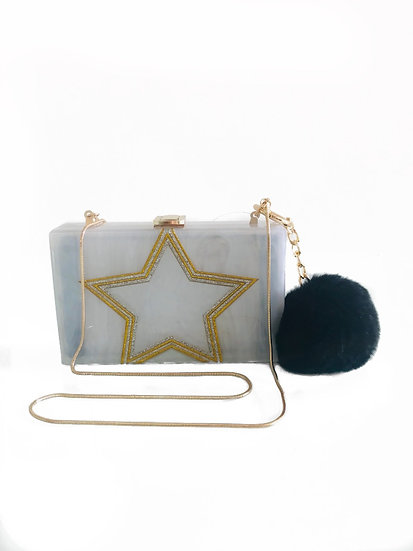 CLUTCH ACRÍLICO STAR