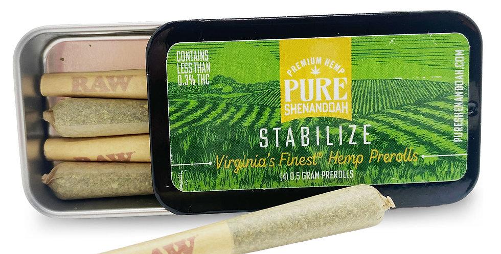 Stabilize Smokeable Hemp Flower Pre-Rolls