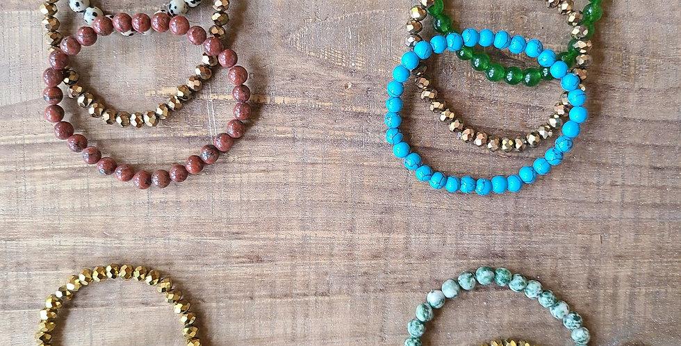 Stacking Stone Bracelets