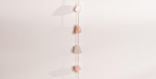 Rose & Clear Quartz Wall Hanging