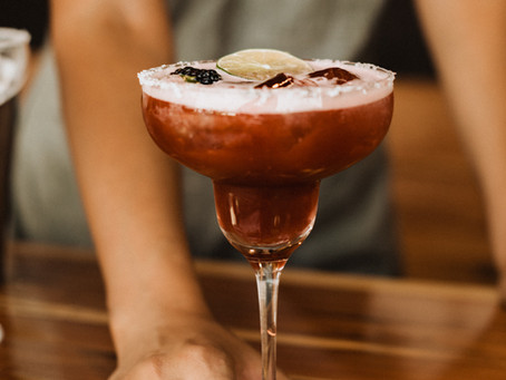 Our famous Blackberry Jalapeño Margarita